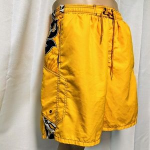 SPEEDO men's yellow swim trunks